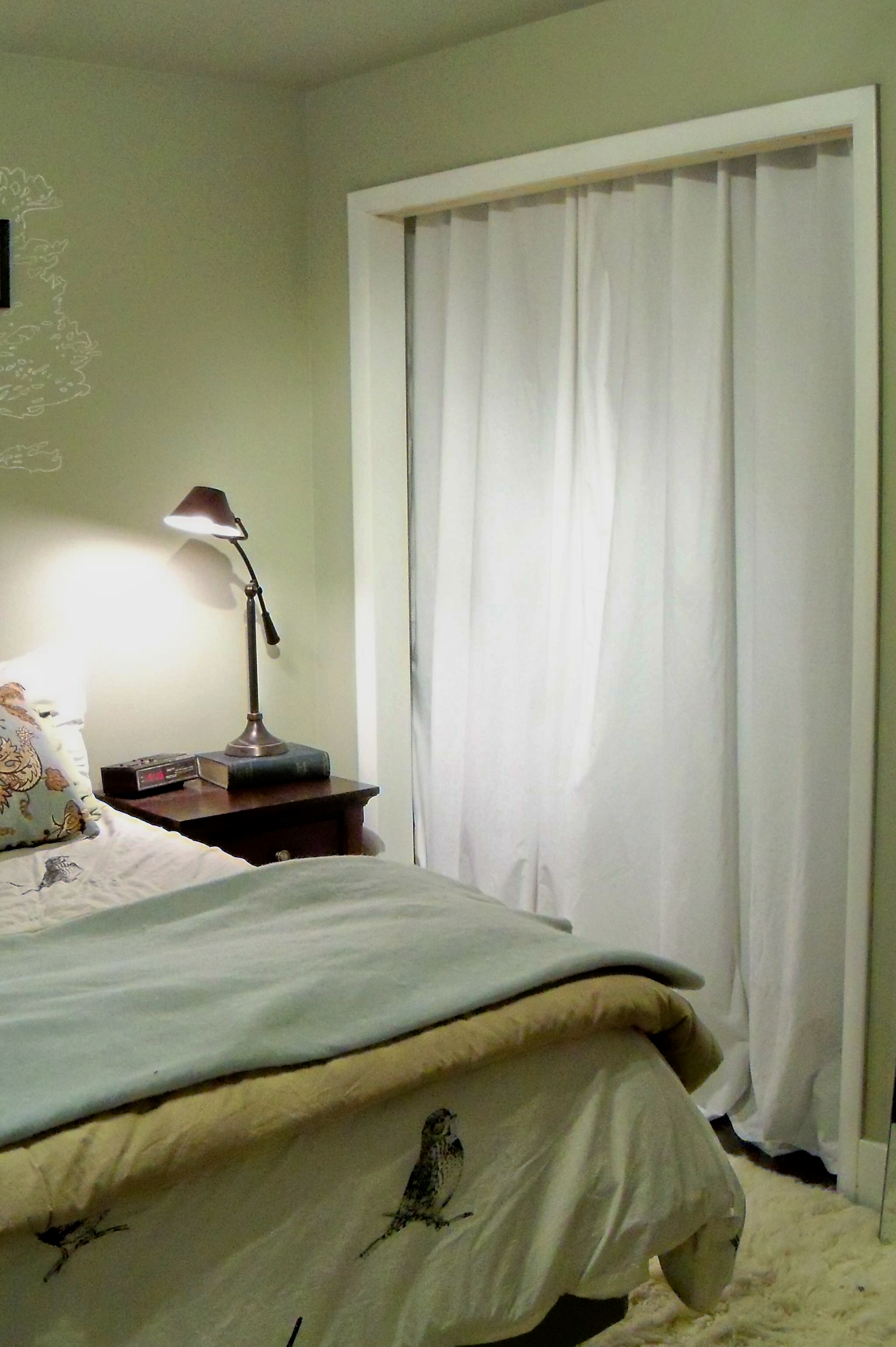 Closet Curtain Down With Closet Doors Up With Curtains A Home West