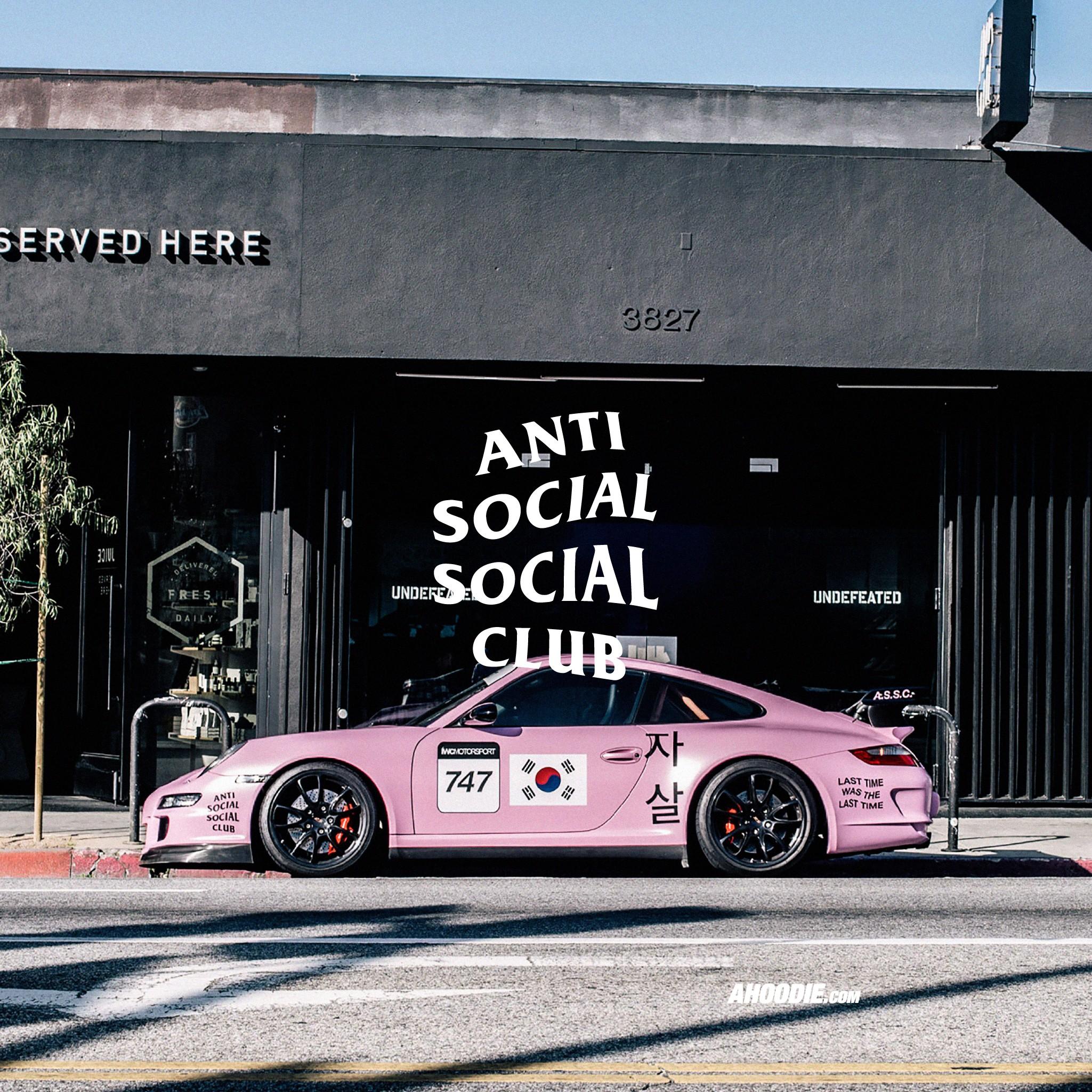 Bad Girl Wallpapers Hd Ahoodie Anti Social Social Club Pink Porsche Wallpaper