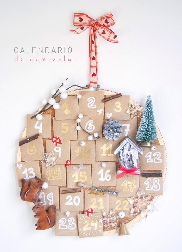 Calendario de adviento en un bastidor - Que poner en un calendario de adviento ...