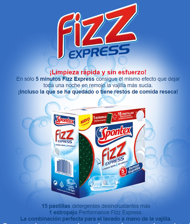 Pruebalo gratis Fizz Express de Spontex