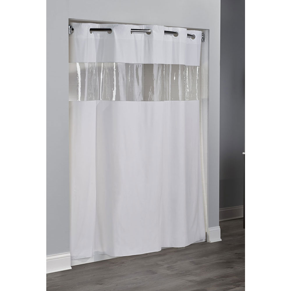74 Shower Curtain Hookless 8 Gauge Vision Vinyl Shower Curtain 71x74 White 12 Per Case Price Per Each