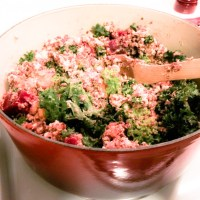 Ground Turkey and Kale Quinoa with Almond Coconut Sauce