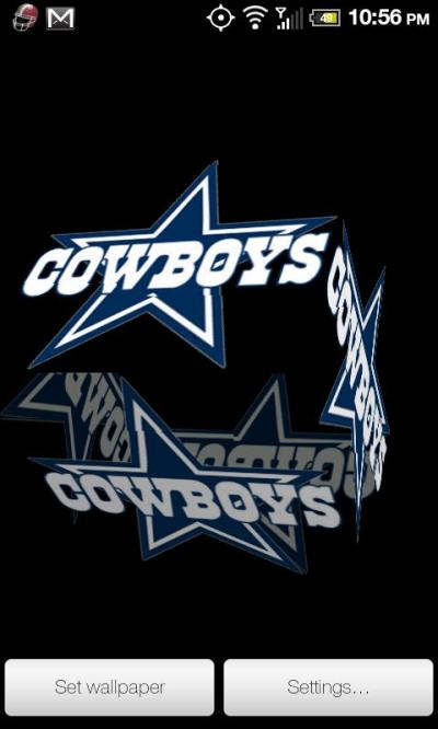 Cowboys Live Wallpaper PRO - Android Informer. Dallas Cowboys 3D rotating cube Live Wallpaper ...