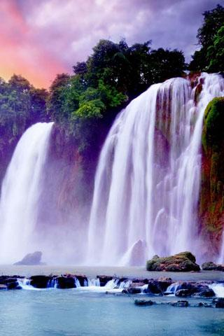 3D Waterfall Live Wallpaper Free Download - waterfall3D.girlwallpaper