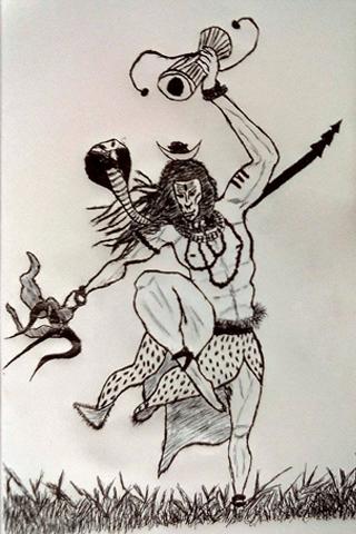 Shiva Animated Wallpaper Hd Sketch Art Free Download Droiddragon Sketch