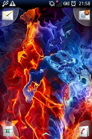 Red And Blue Heart Hd Wallpapers Magic Effect Ice Fire Lovers Free Download Mcoprod