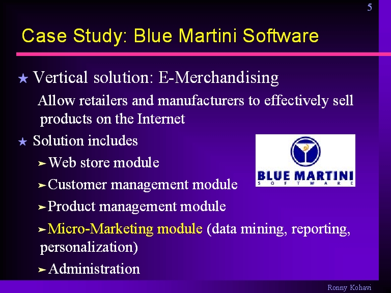 Case Study Blue Martini Software