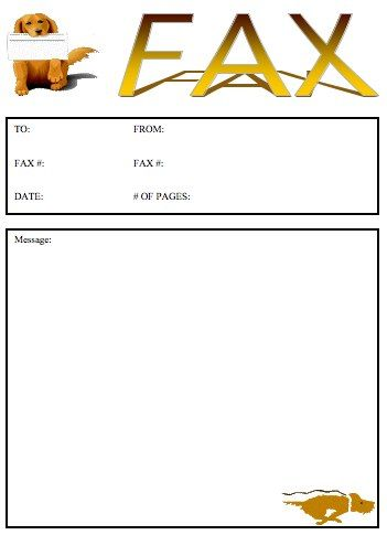Printable Fax Cover Sheet PDF Word Template Free Download