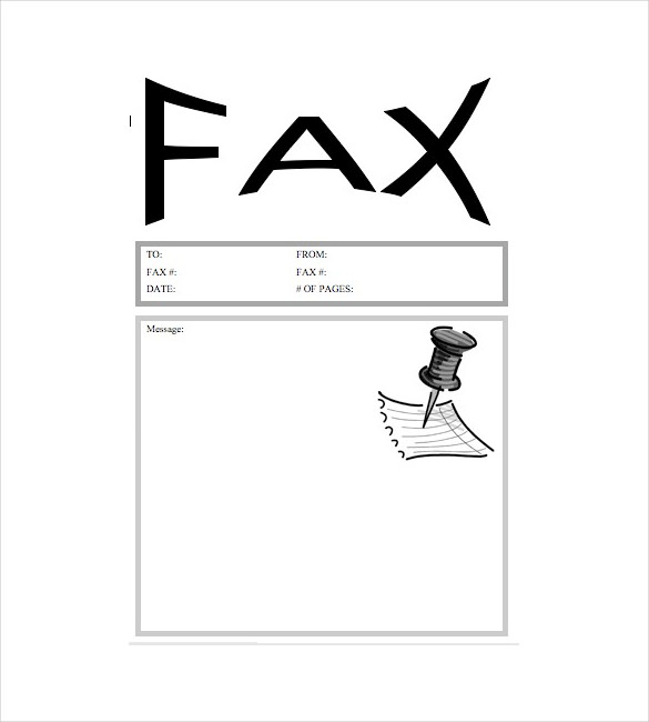 Fax Cover Sheet Word PDF Printable Template - blank fax cover page