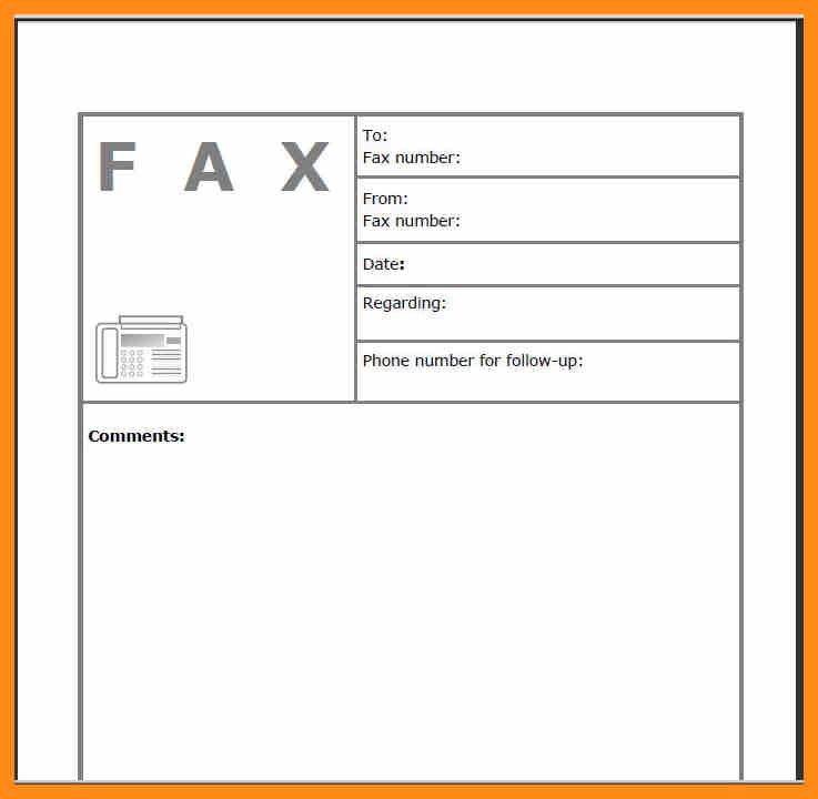 Fax Cover Sheet Template PDF Word Printable Free Download - fax cover sheet download