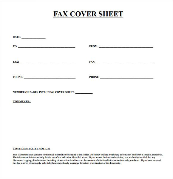 Blank Fax Cover Sheet Free Printable Template - free cover sheet