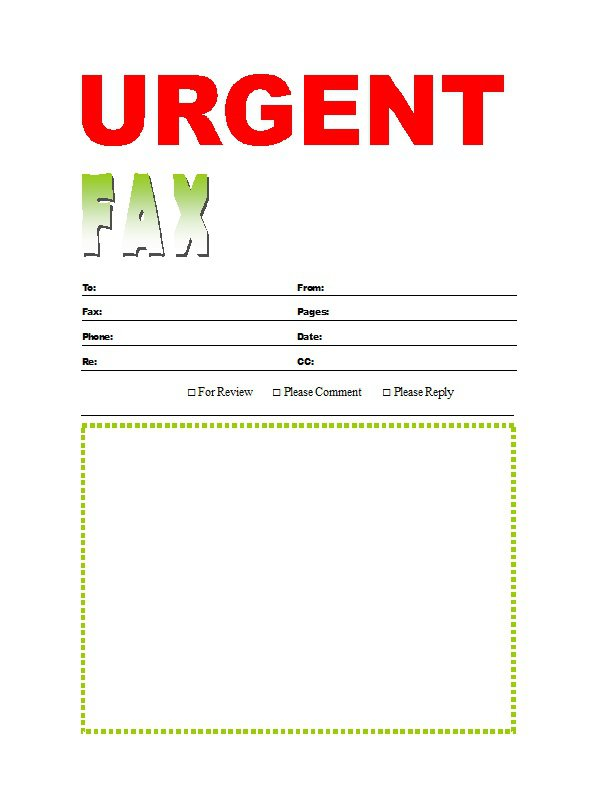 Fax Cover Sheet Template PDF Word Printable Free Download