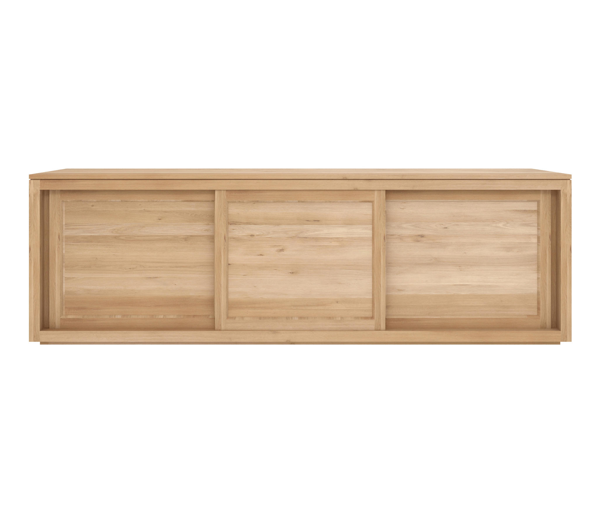 Ethnicraft Oak Pure Sideboard 150 Cm 2 Sliding Doors