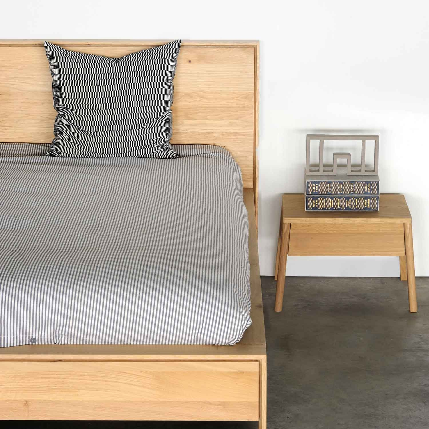Air O Bed Ethnicraft Oak Air Nightstand Aif London