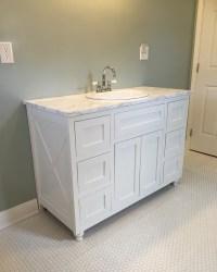 DIY farmhouse bathroom vanity  Lanai Life