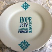 Holiday Keepsake Plate Tutorial