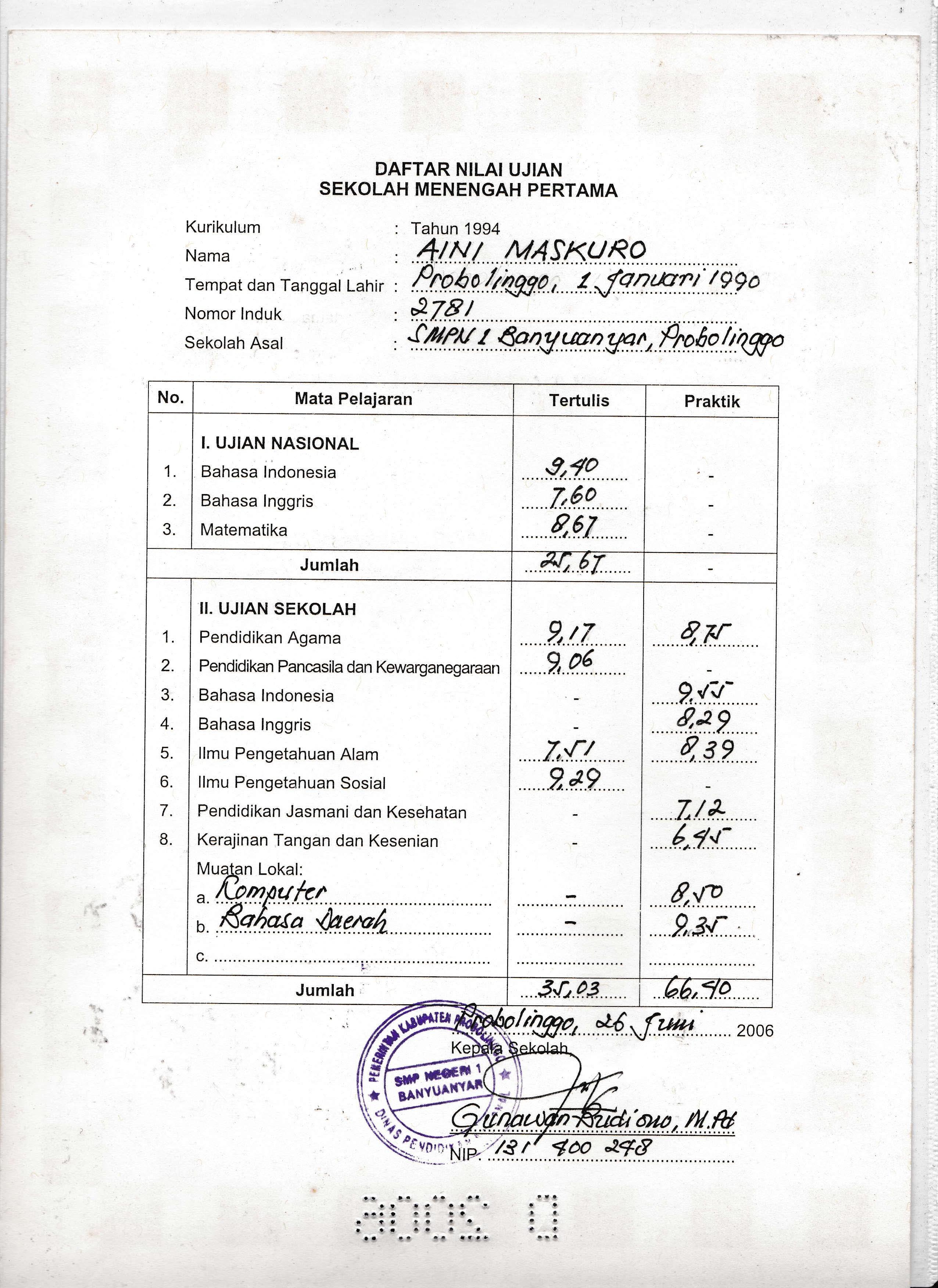 Contoh Ijazah Sma 2003 Contoh Surat Rasmi Rayuan Contoh Resume 06 Juni 2014 Aimarusciencemania