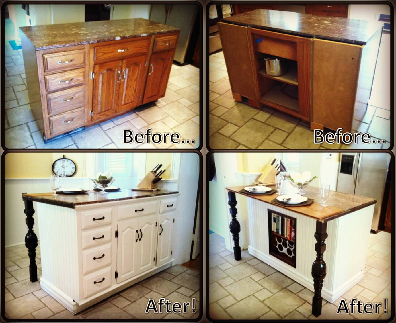 Kitchen Cabinets Made Into Island Diy Kitchen Island Renovation Pieces Of Me