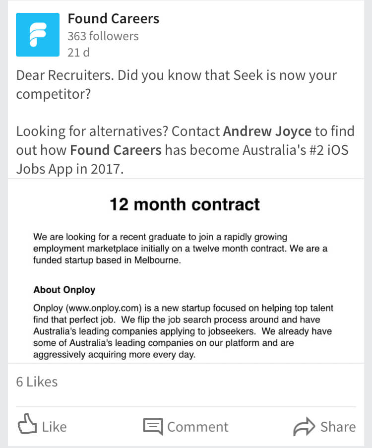 Start-up goes after Seek with LinkedIn ads AIM Group