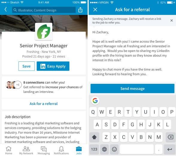 LinkedIn adds job referral feature AIM Group