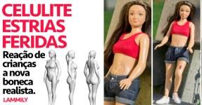 """Crianças Reagem a """"Barbie"""" Realística"""
