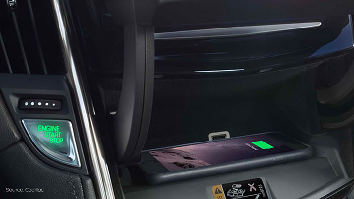 Qi Chargeur Cadillac Wireless Charging - Aircharge