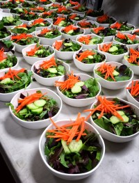 Fresh spring greens, ready to be whisked to the Palm Springs International Airport.