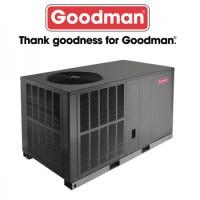 Goodman 3.5 TON - 16 SEER - Horizontal Heat Pump Package ...