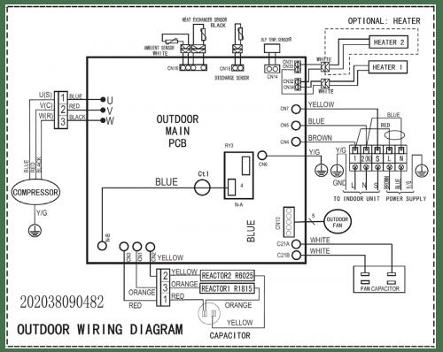 outdoor condensing unit wiring diagram