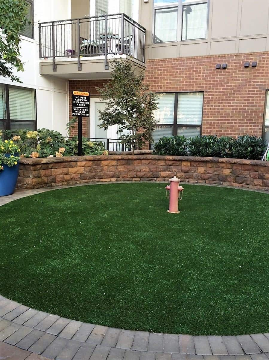 how to install artificial turf in a dog run