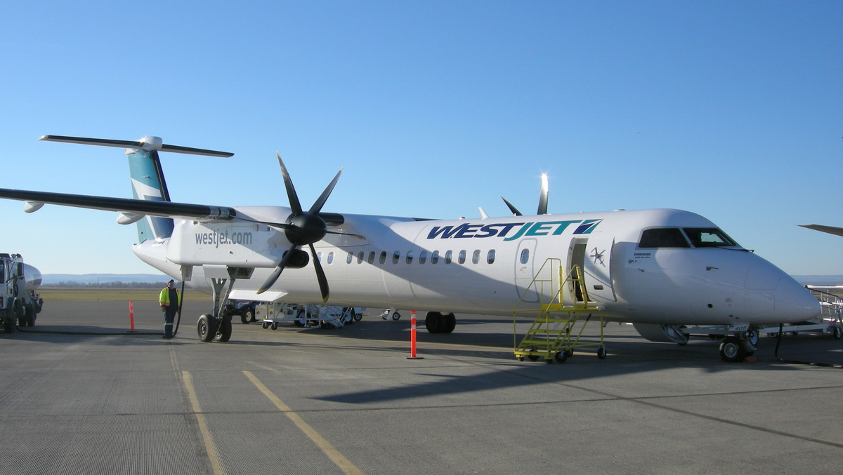 Flights With West Jet Flight Review Of Westjet Encore On Board Their Newest Q400