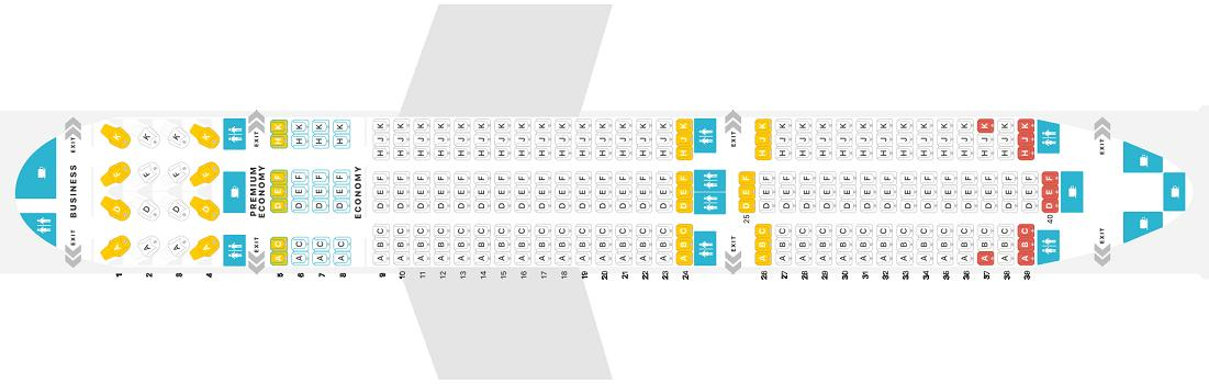 Air Canada Boeing 787 9 Dreamliner Seating Chart Elcho Table