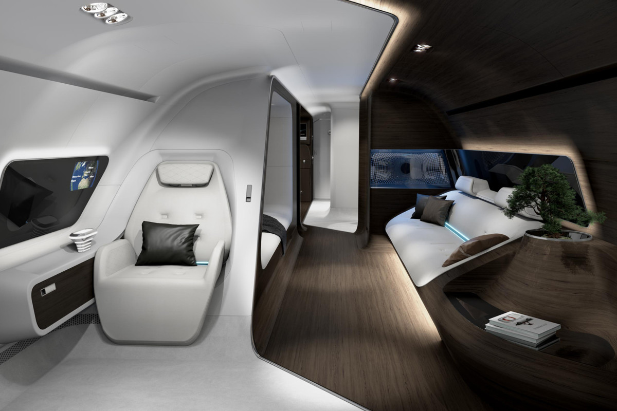 Vliegtuig Interieur Inside The First Mercedes-benz Private Jet - Airows