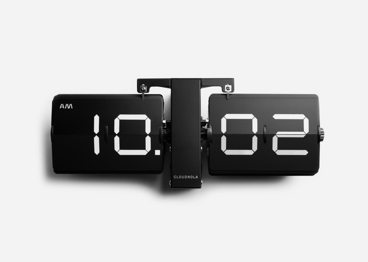 Retro Flip Alarm Clock Upgrade Your Workstation With This Retro Inspired Flip Clock Airows