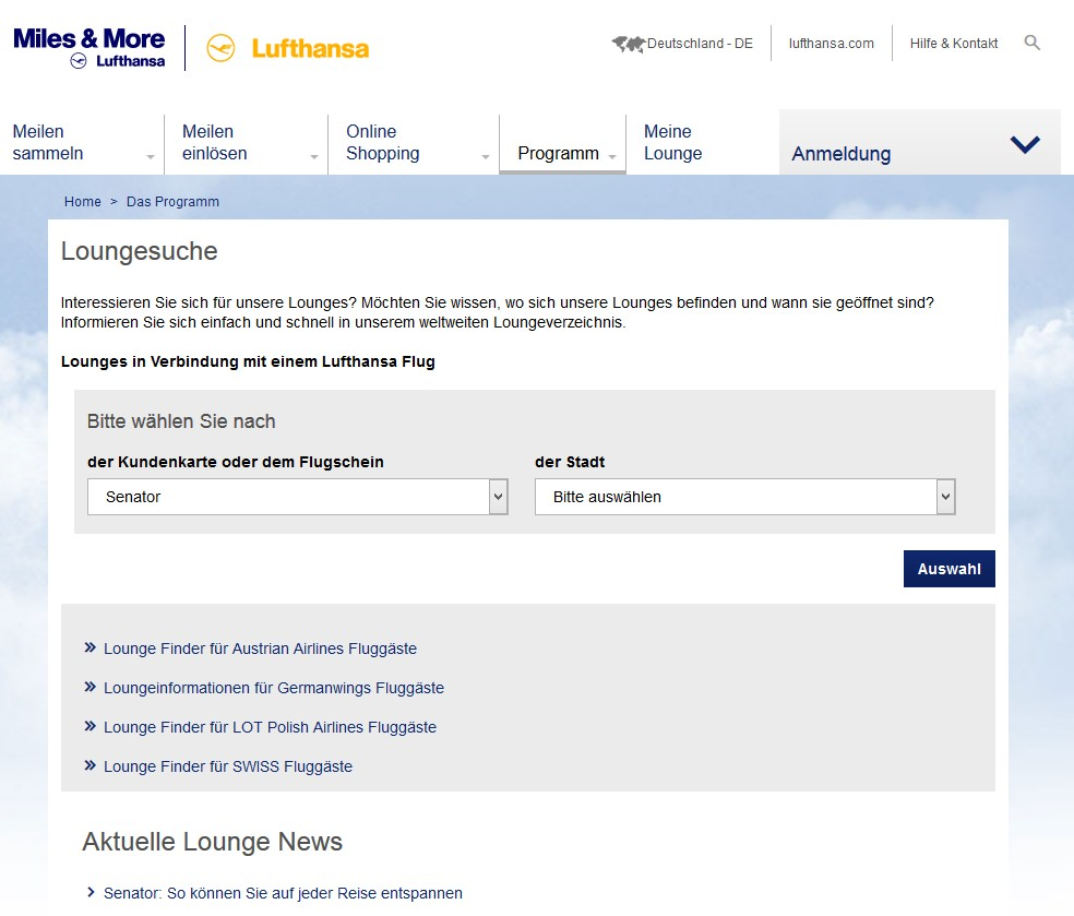 Miles And More Gold Karte Lufthansa Miles More Lounges Airportlounge