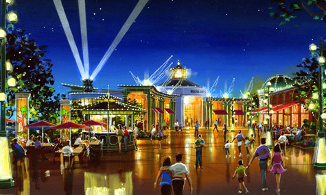 Downtown Disney Hyperion Wharf 03 Downtown Disneys Vergnügungsviertel Pleasure Island wird wiederbelebt