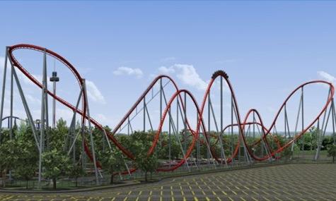 Intimidator Carowinds PortAventura   Der B&M Mega Coaster Shambhala bricht alle Rekorde!