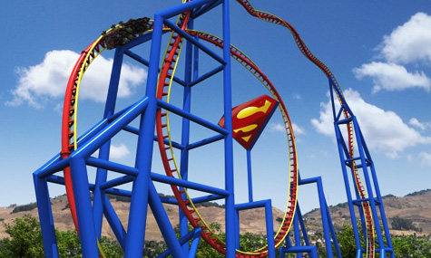 18 Superman Ultimate Flight Six Flags Discovery Kingdom Airtimers Top25 der Freizeitpark Neuheiten 2012 – Platz 20 bis 16