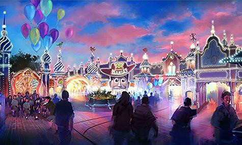 Toyville Trolley Park Disneyland Tokyo DisneySea   Toy Story Midway Mania kommt 2012 nach Tokyo