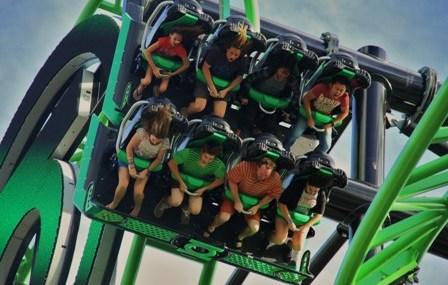 Green Latern Coaster WB Movie World2 448x285 Neuheiten Check: Green Lantern Coaster, WB Movie World Australia