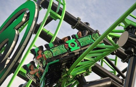 Green Latern Coaster WB Movie World3 448x285 Neuheiten Check: Green Lantern Coaster, WB Movie World Australia