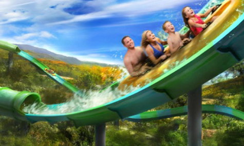 RiverRush Dollywood Dollywoods Splash Country baut Tennessees ersten Water Coaster