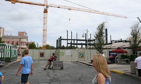 Universal Studios Orlando Transformers Baustelle1 Universal Studios Orlando   Die Transformers ziehen auch nach Florida