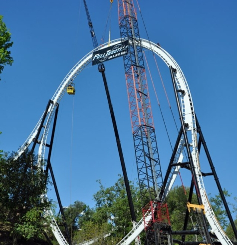 Full Throttle Six Flags Magic Mountain2 YOLO   You only Loop once!