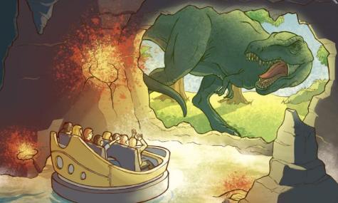 heroicland dinosaurierdarkride 475x285 Aus Calais Park wird Héroïc Land – Konzept steht