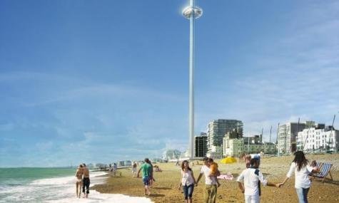 1 475x285 Hoch, höher, i360   Brighton erhält den höchsten Aussichtsturm der Welt
