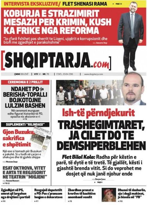 Money Government  Politics in the Media April 2016 \u2013 Albanian