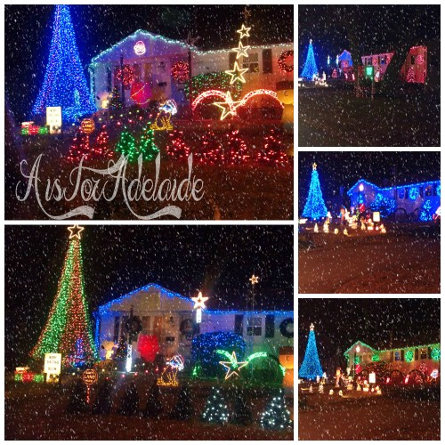 Best Light Shows in RI West Shore Road #Christmaslights #RhodeIsland #holidays #aisforadelaideblog