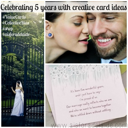 Celebrating 5 Years with Creative Crd Ideas #Valuecards #aisforadelaide #shop #weddinganniversary #collectivebias #cbias