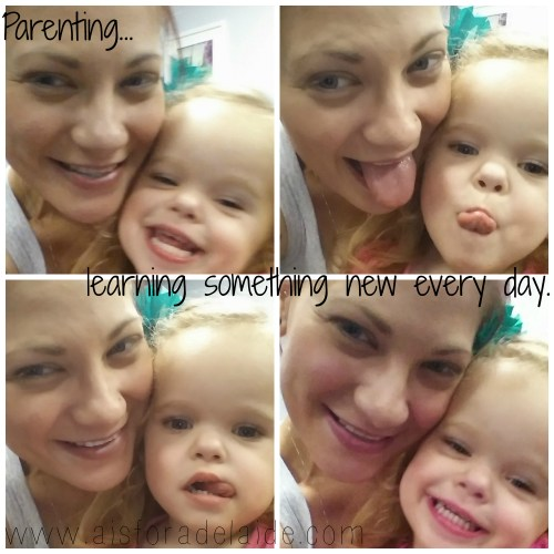 Parenting is learning something new every day. #aisforadelaide #parenting #huggingnotyelling